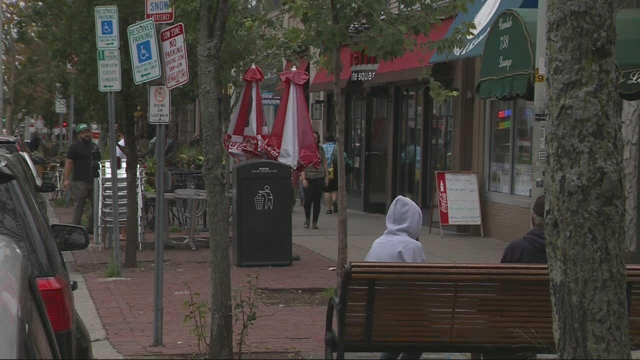 One day after a man was fatally stabbed in Cambridge, the search continues for his killer.