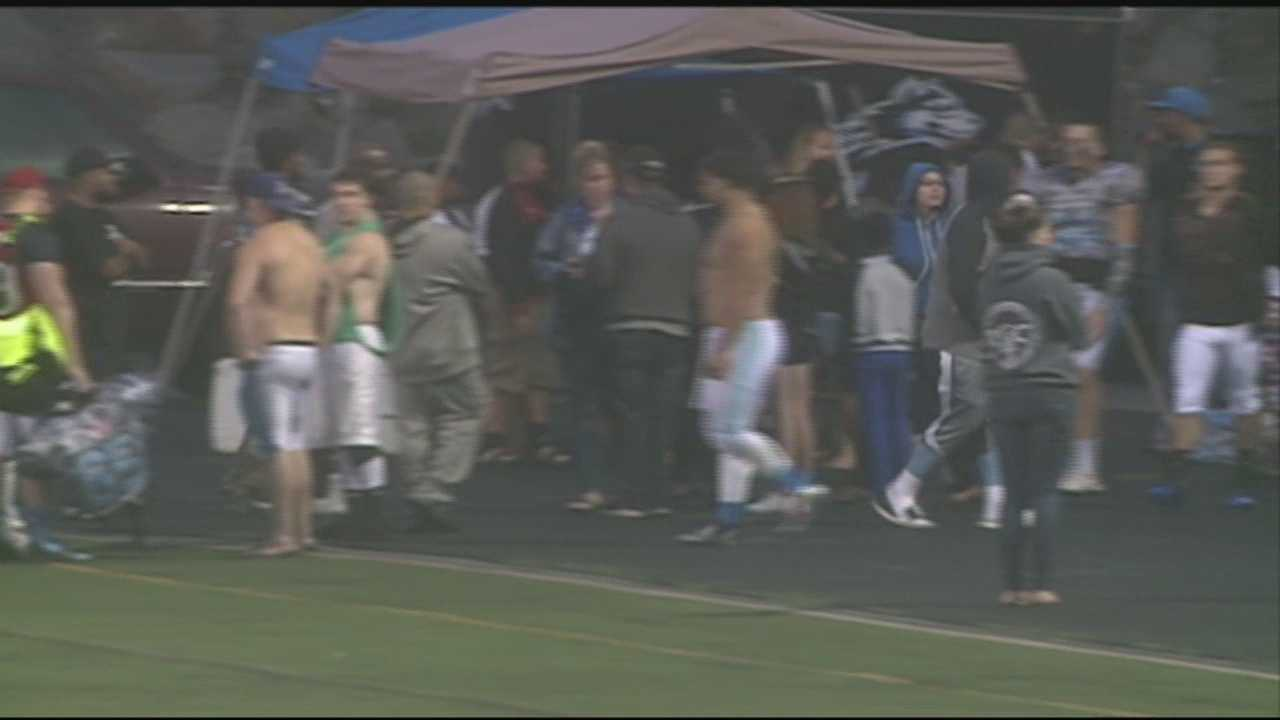 A brawl broke out during a semi-pro football game in Manchester Sunday. Mike Cronin reports.