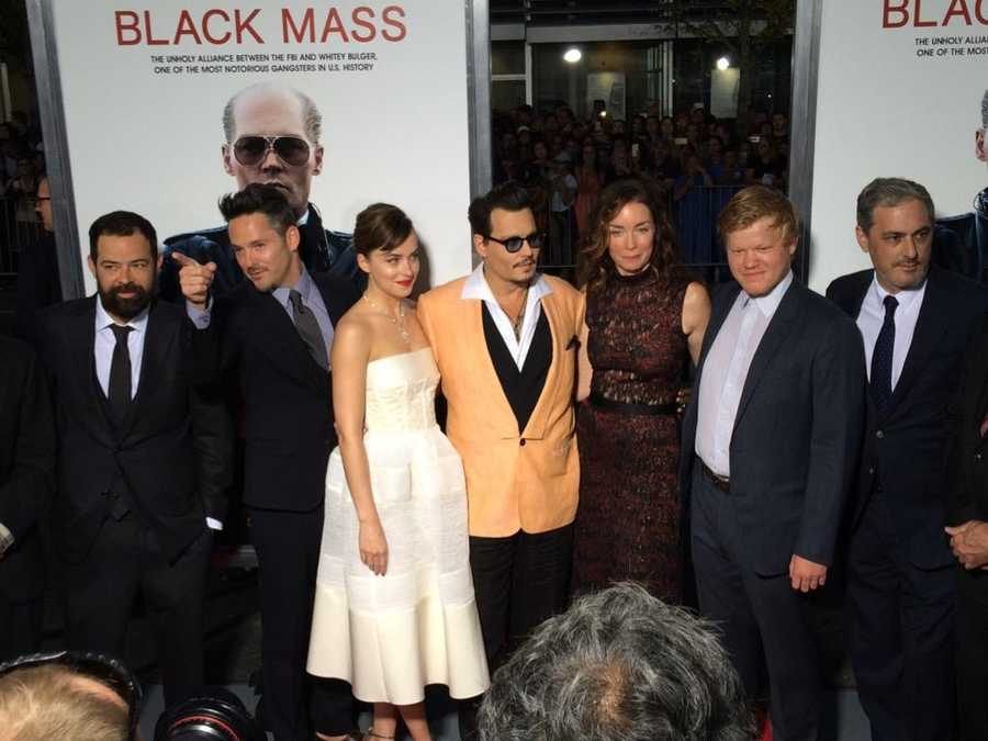 "Hundreds of fans lines the streets for a chance to see their favorite movie stars ahead of a special screening of ""Black Mass"" in Brookline on Sept. 15, 2015."