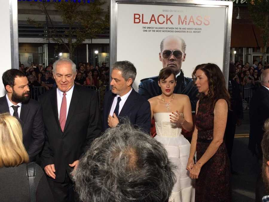 "The stars of ""Black Mass"" on the red carpet ahead of the premiere on Sept. 15, 2015."