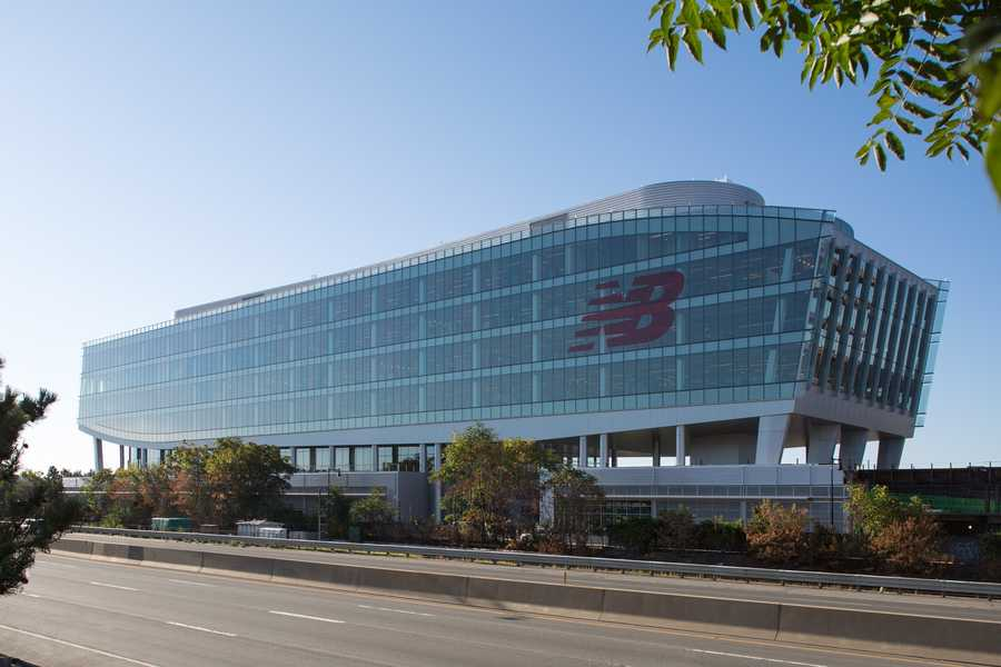 New Balance opened its new 250,000-square-foot world headquarters in the Allston/Brighton neighborhood of Boston.