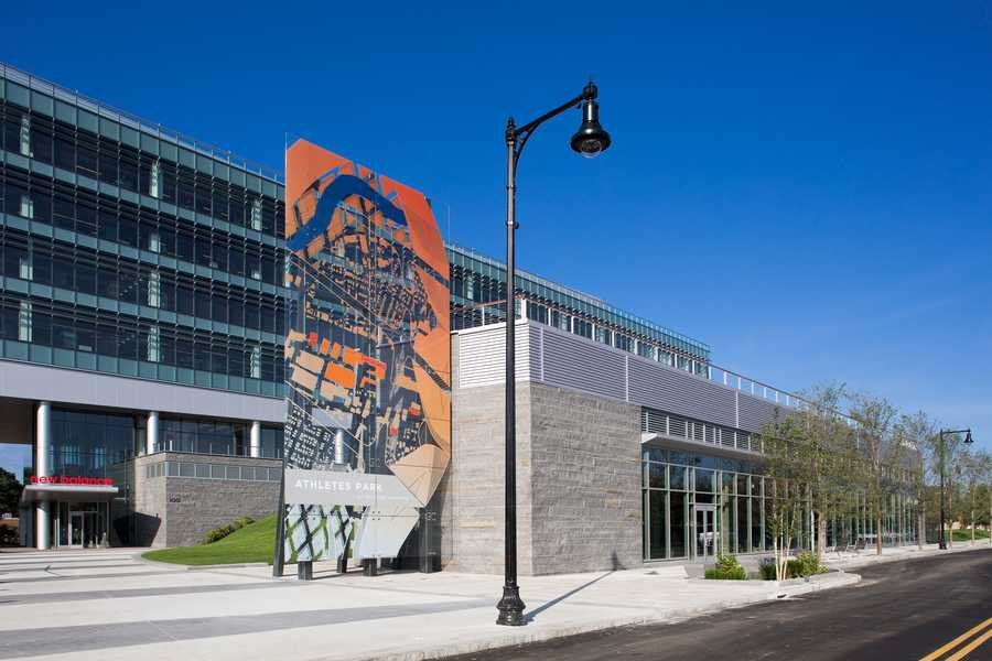 A view of Athletes Park at the New Balance Global Headquarters