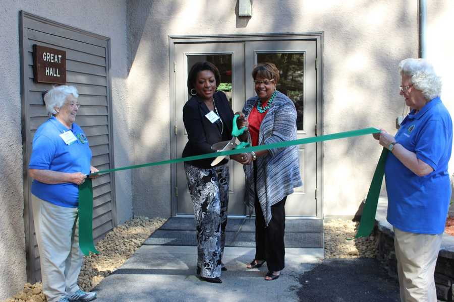 A ribbon-cutting and rededication ceremony unveiled the Extreme Makeover of Great Hall at Camp Cedar Hill in Waltham.