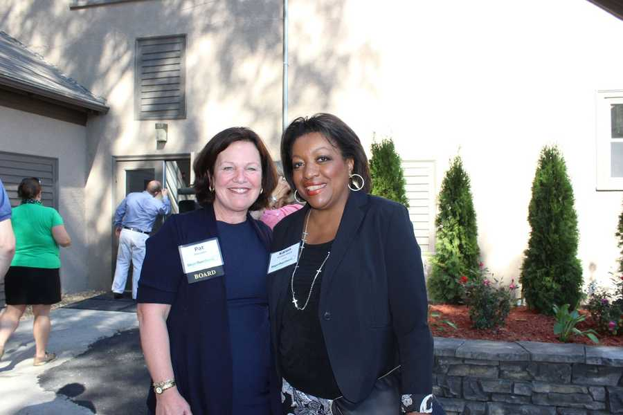 WCVB Director of Community Affairs Karen Holmes Ward and Girl Scouts of Eastern Massachusetts CEO Patricia Parcellin.