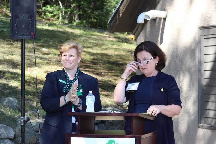 Girl Scouts of Eastern Massachusetts COO Barbara Fortier and CEO Patricia Parcellin welcome the attendees.
