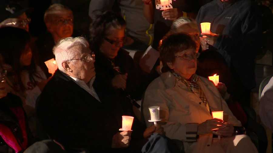 Gov. Charlie Baker was among the hundreds of people who attended a candlelight vigil for Baby Bella on Deer Island Monday night.