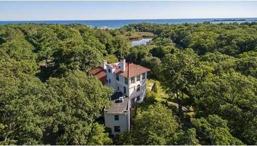 Incomparable iconic Italian Villa built in 1903 by the prominent Boston Architect George F. Newton.
