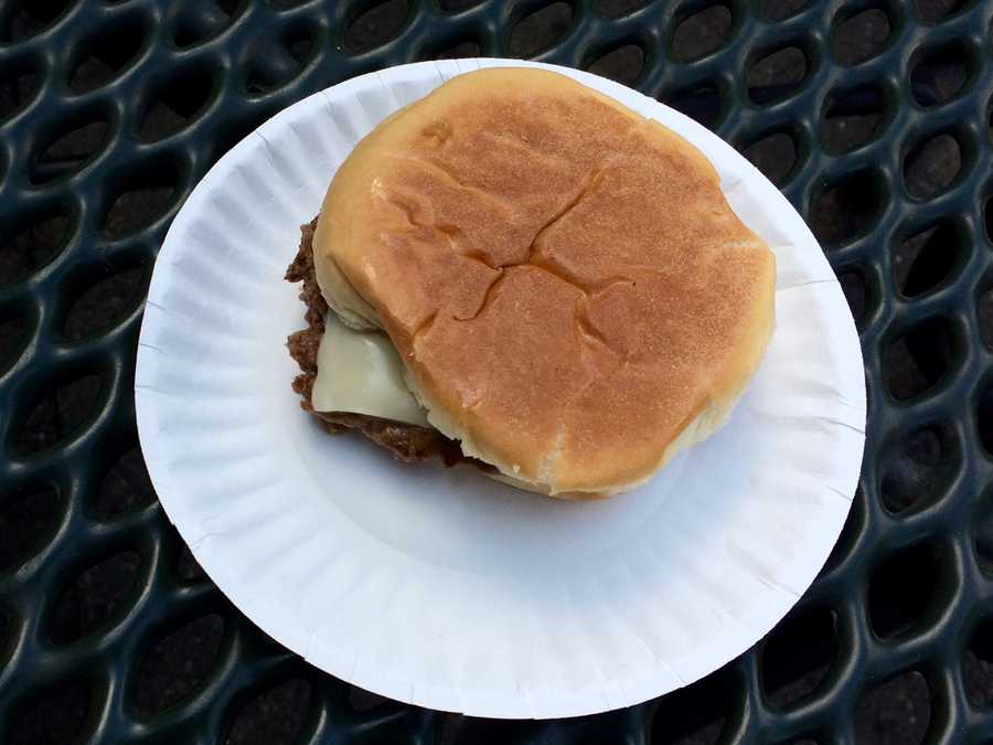 Massachusetts famous White Hut Cheeseburger with onions