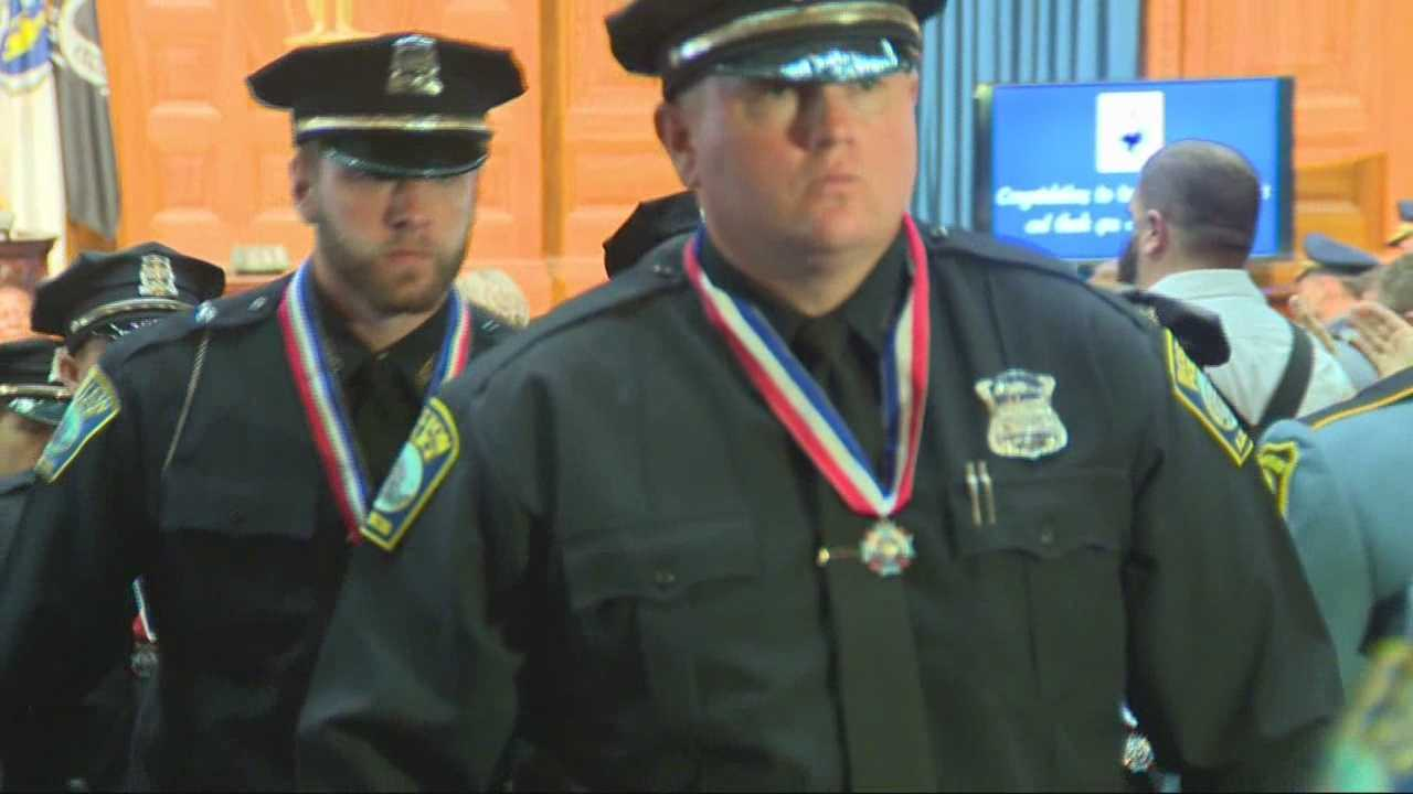Massachusetts' top police officers were honored with bravery awards, named after a state trooper killed in the line of duty.