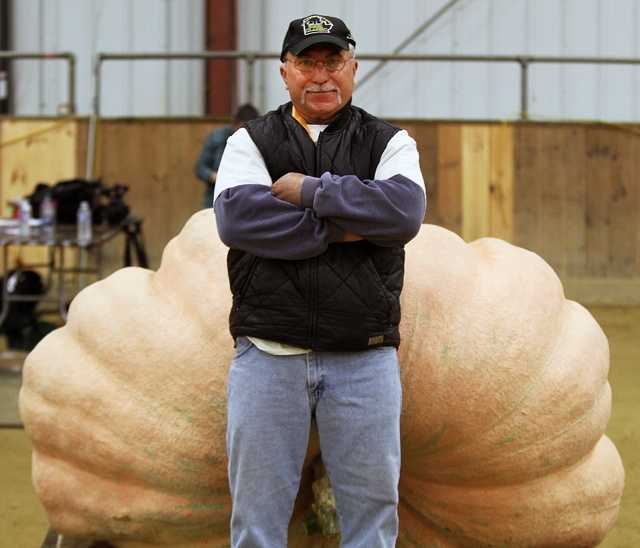 Vincent's giant pumpkin tipped the scales at 1,992.5 pounds.