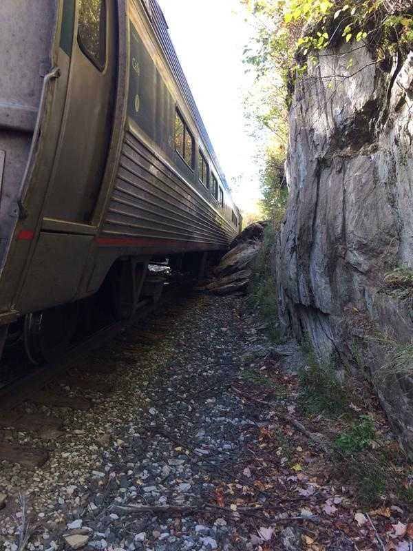 First responders said several cars of an Amtrak train derailed in the area of Route 12A and Bull Run Road in Northfield at 10:30 a.m.