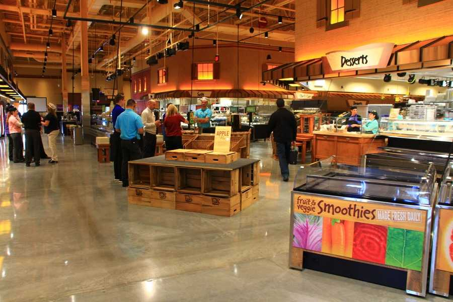 Like other stores in the area, the Westwood location features a large prepared food area that features a variety of made-to-order areas.