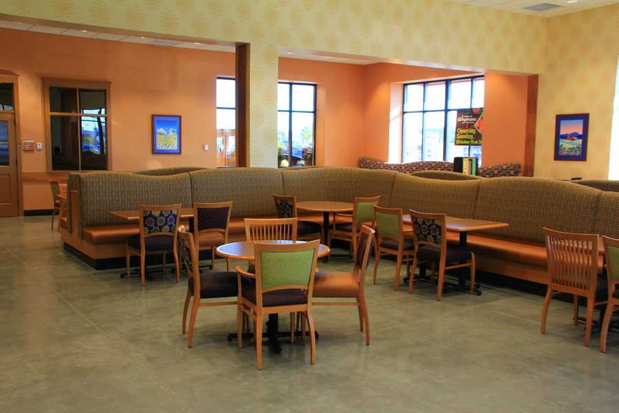 The store has indoor and outdoor seating for nearly 300 customers.