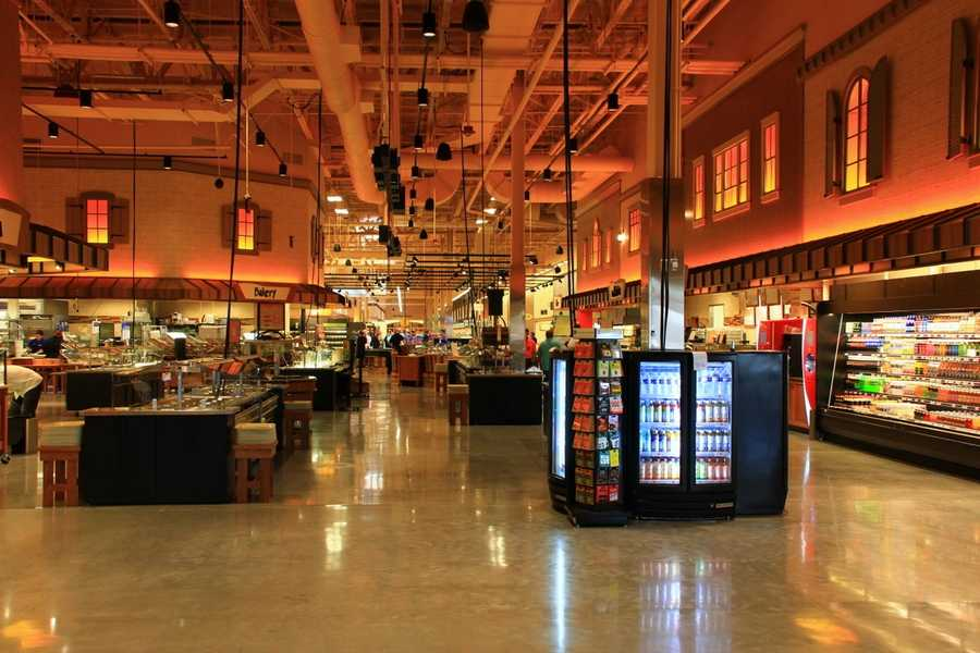 A look at the Market Cafe area of the store where prepared foods are available.