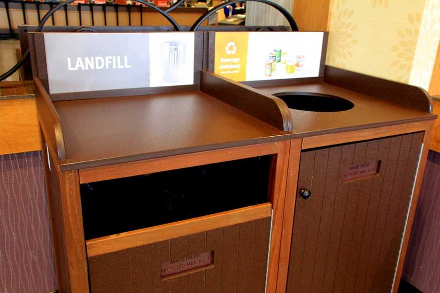 The family-owned company is known for its customer service, but it says its is doing what it can to help sustainability.  The containers that customers use to recycle and throw out trash -- were recycled themselves.