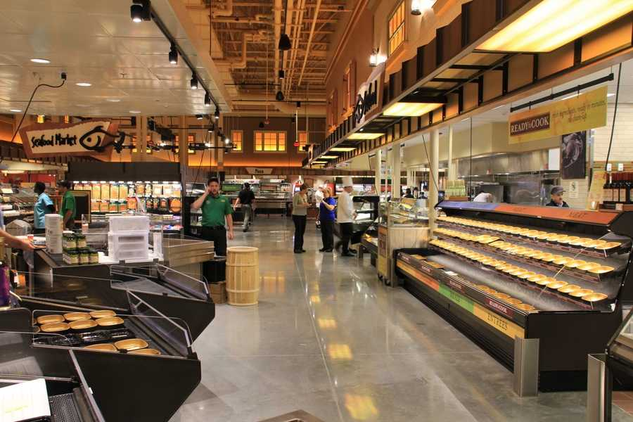 A look at the prepared foods section of the store.