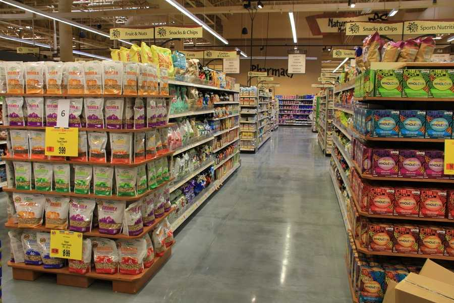 The Nature's Marketplace section of the store features thousands of organic and gluten free foods.