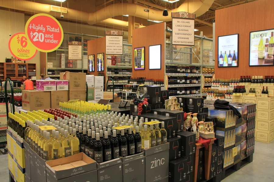 The store features a beer and wine department that will be open seven days a week.