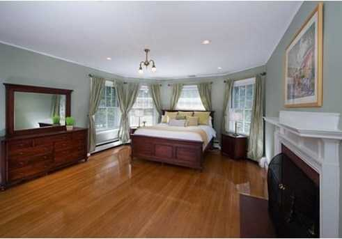 The master suite offers two fireplaces and a sitting room.