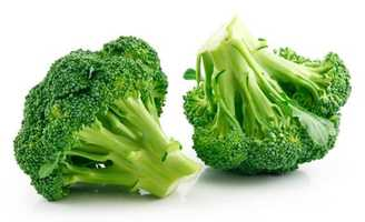 RAW broccoli's florets help scrub the surface of your teeth.