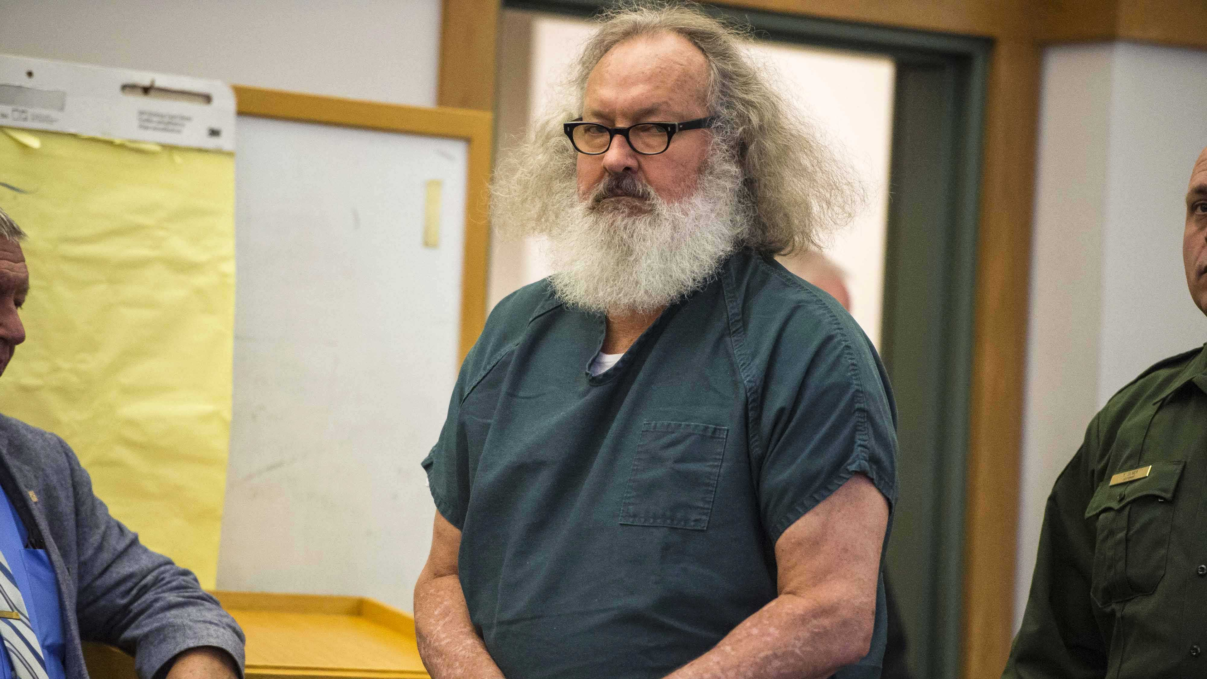 Actor Randy Quaid appears in Vermont Superior Court in St. Albans, Vt., on Thursday, Oct. 15, 2015. A Vermont judge has released Quaid and his wife Evi from custody and the couple says they'll now address 5-year-old criminal charges in California.