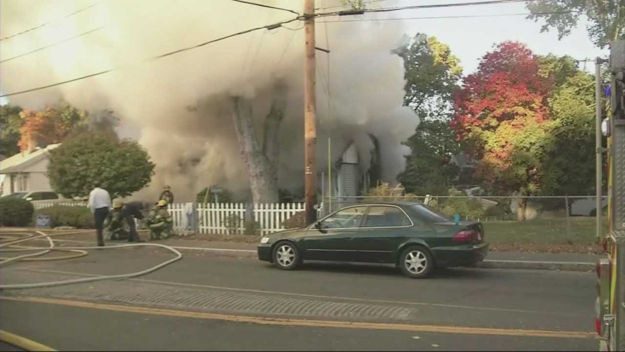 Two people are dead after a house fire in Chicopee.