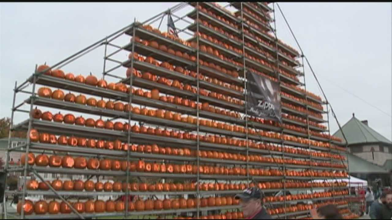 Laconia Pumpkin Festival attempts to break Keene's world record for number of jack-o-lanterns.