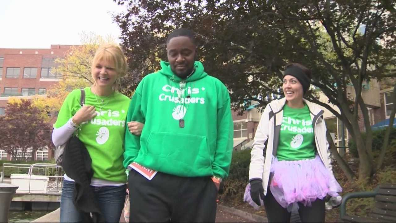 A donor team reunited at the annual Boston Kidney Walk in Cambridge Sunday.