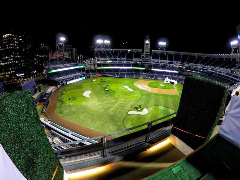The San Diego Padres and Callaway Golf have transformed Petco Park into a 9-hole course will be open through Monday night.