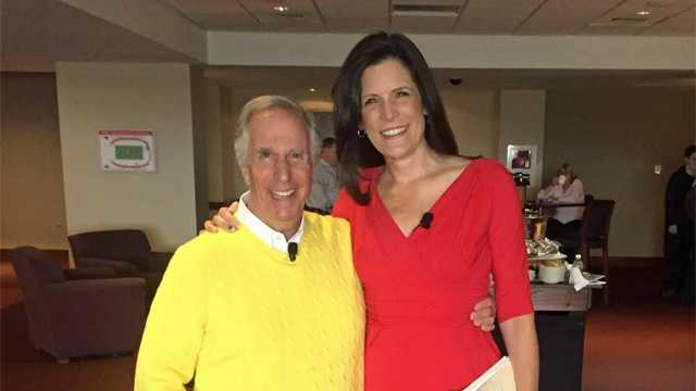 Henry Winkler and Karen Anderson at The Best Years Expo at Gillette Stadium on Nov. 7, 2015.