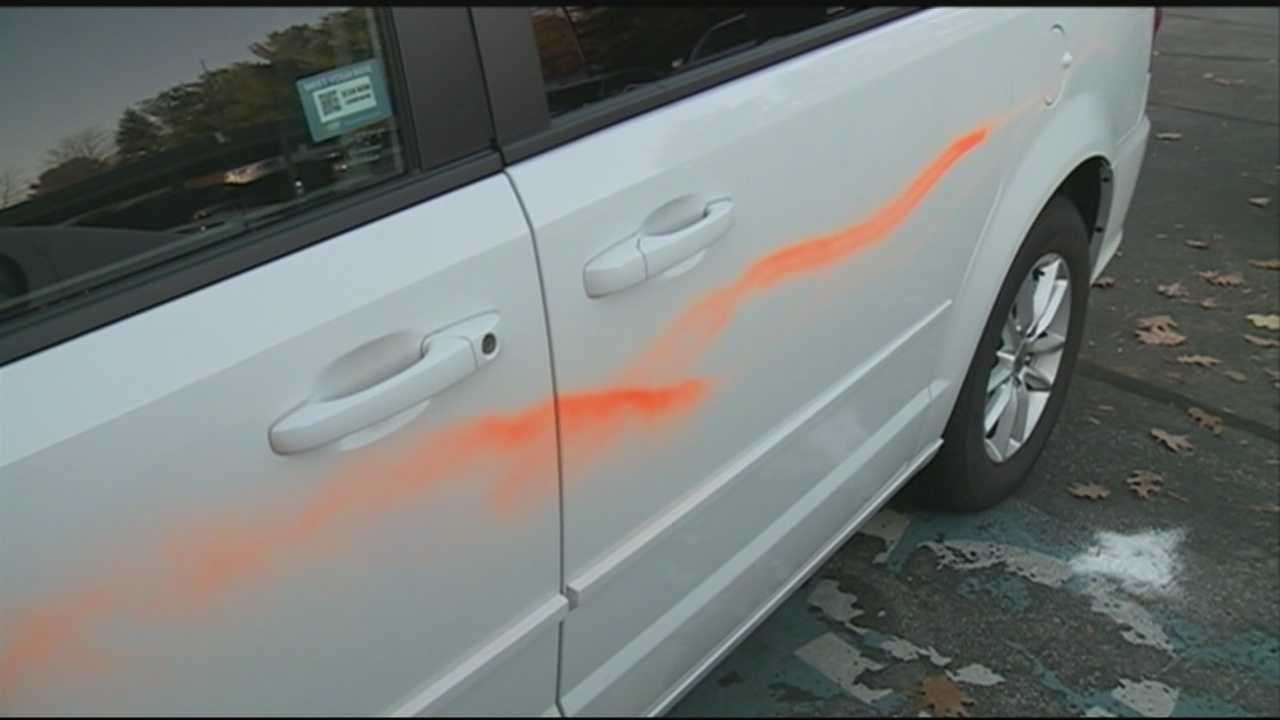 A family says their vehicles have been targeted by vandals three times in a week