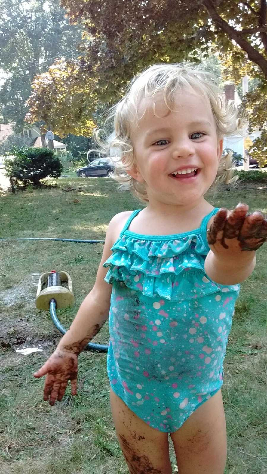 A 2 year-old-girl is missing in Hamilton.