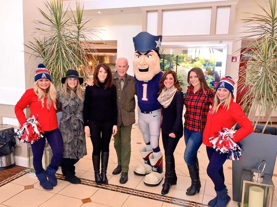 The EyeOpener team, along with Pat Patriot are excited for the Plymouth Thanksgiving Day Parade.