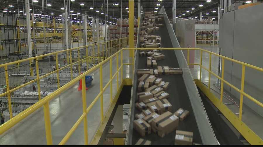 Amazon's fulfillment center gears up for cyber-Monday