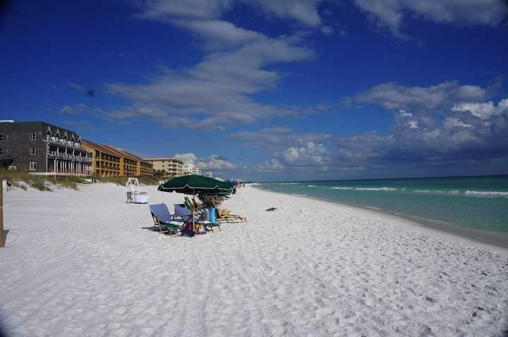 "3.) Destin, Florida. Known as the ""world's luckiest fishing village,"" Destin is home to miles of white-sand beaches with glistening turquoise water."