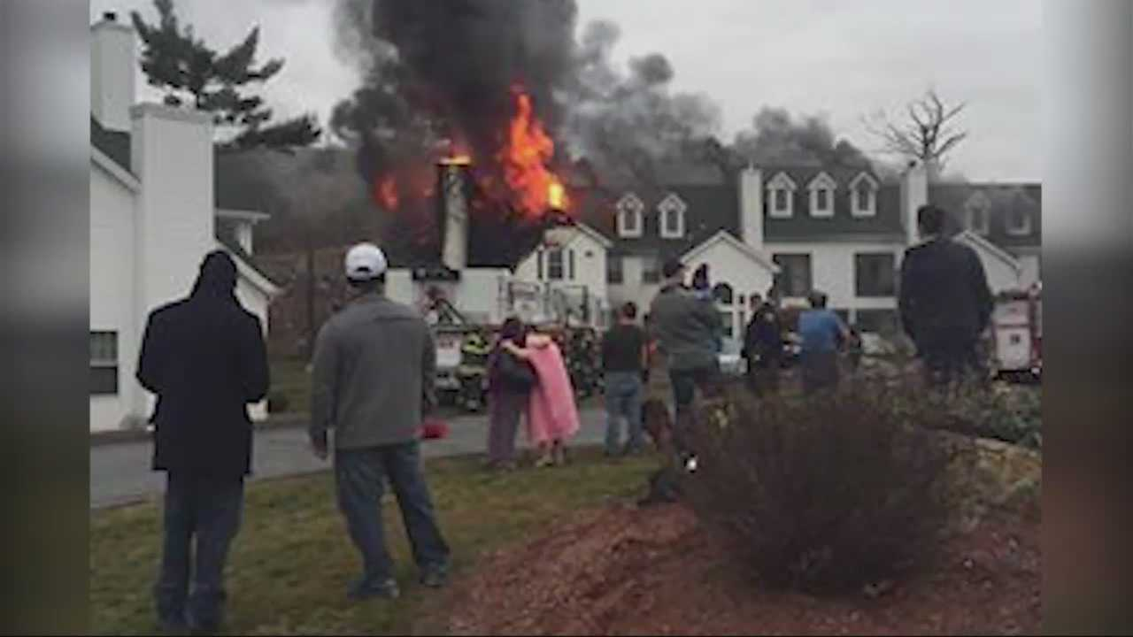 Fire officials battled a four-alarm fire in Southbridge Sunday morning.