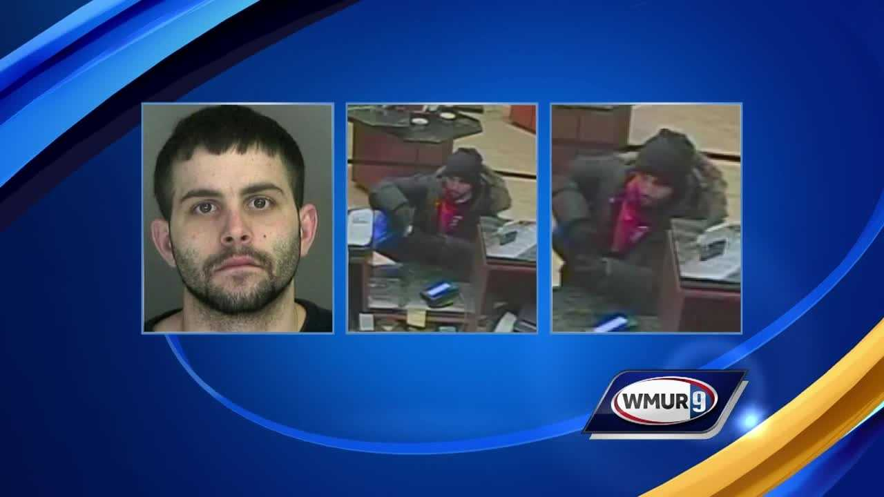 A search is underway for a man wanted in connection with a series of robberies in New Hampshire and Vermont.