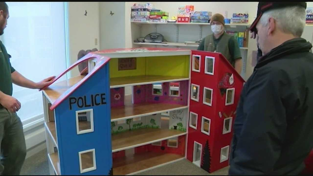 Kids of all abilities will soon enjoy a giant, handmade dollhouse at the Children's Hospital at Dartmouth-Hitchcock. Nearly 475 wooden toys were built for children in need by inmates at the Southeast State Correctional Facility in Windsor. This is the fourth year the prison partnered with Toys for Tots in the Upper Valley.