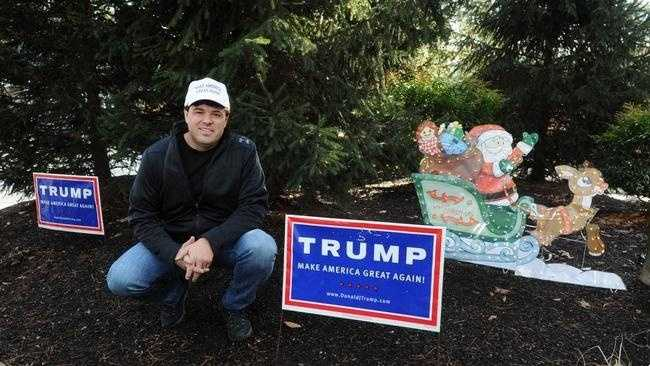 Joe Ricci of Cherry Street in Bridgewater had his Donald Trump for president signs allegedly stolen by his neighbor. He installed a video camera that allegedly captured a theft.