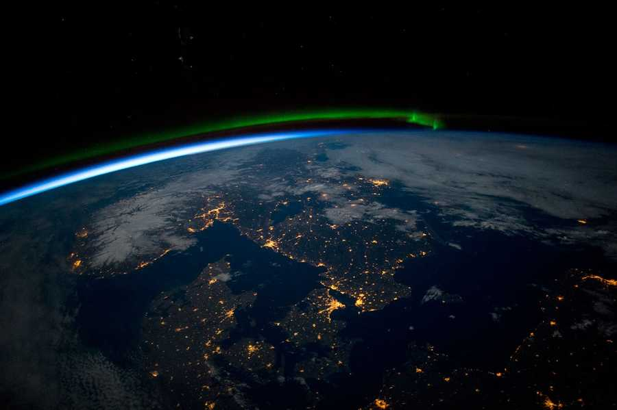 Scandinavia at Night. Expedition 43: 3 April, 2015.