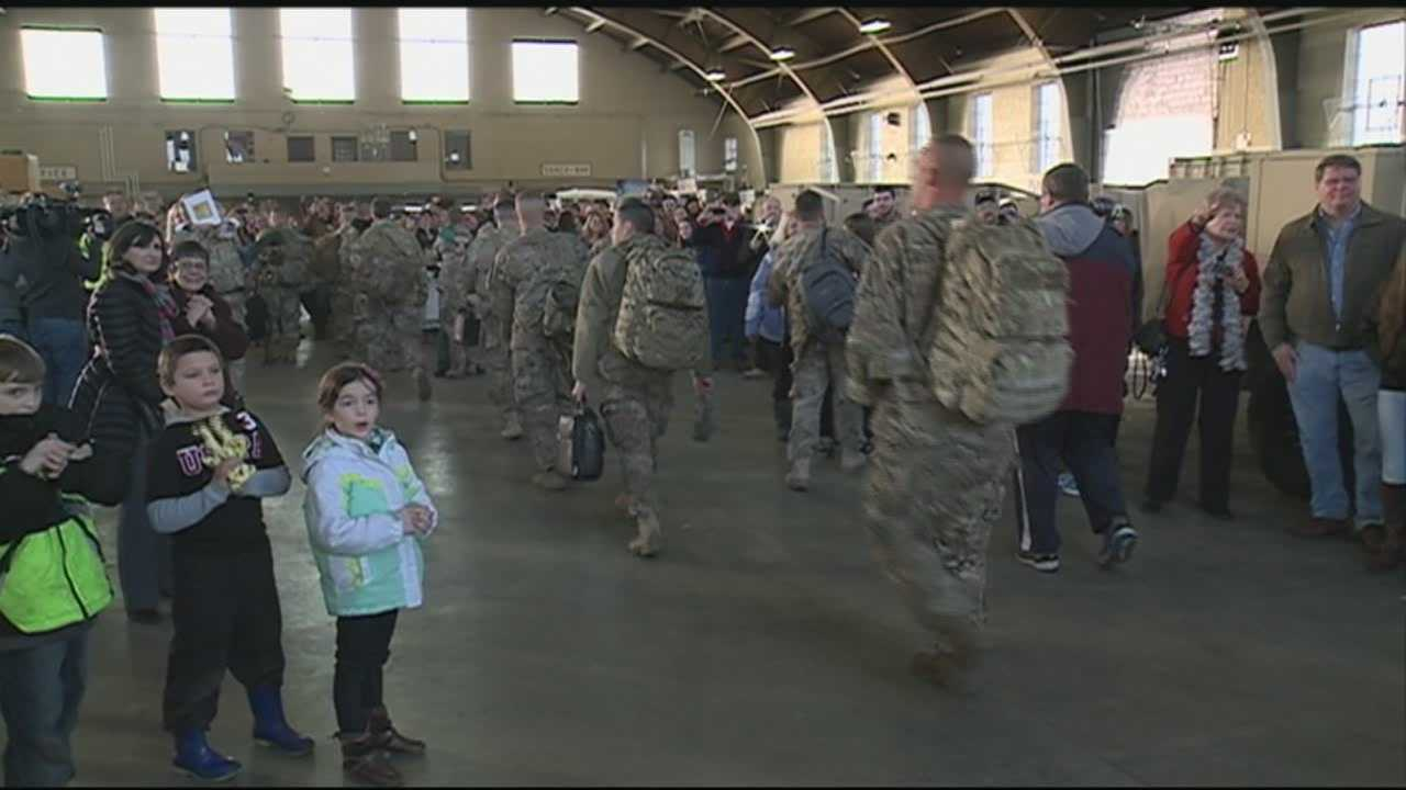 About 120 members of the New Hampshire Army National Guard are celebrating the New Year by returning home. WMUR's Heather Hamel has more.