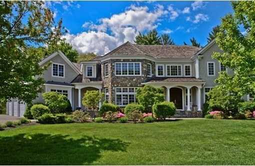 1 Stonefield Lane is on the market in Wellesley for $4.1 million.
