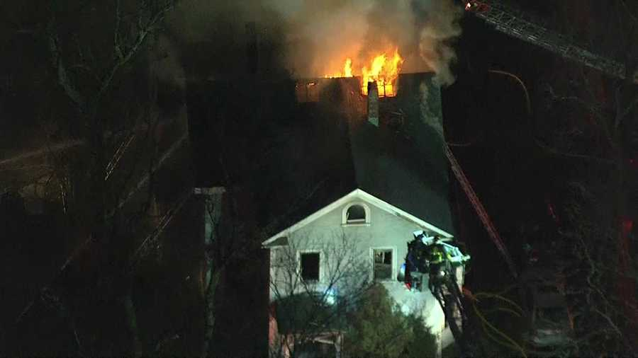 After 5 p.m., more than an hour after the fire started, the flames burst through the roof.