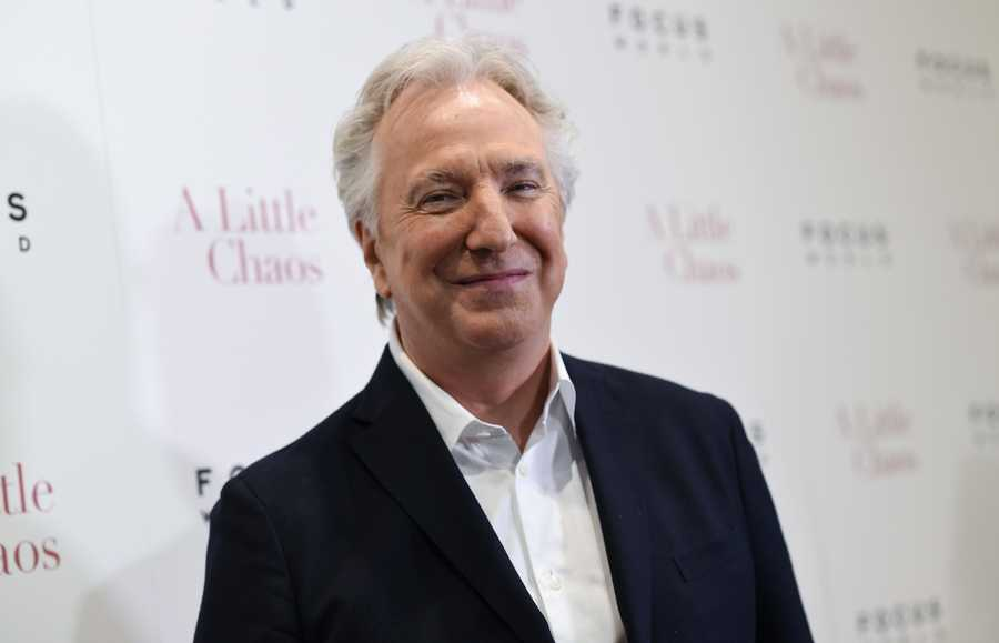 """British actor Alan Rickman, whose career ranged from Britain's Royal Shakespeare Company to the """"Harry Potter"""" films, died on Jan. 14."""