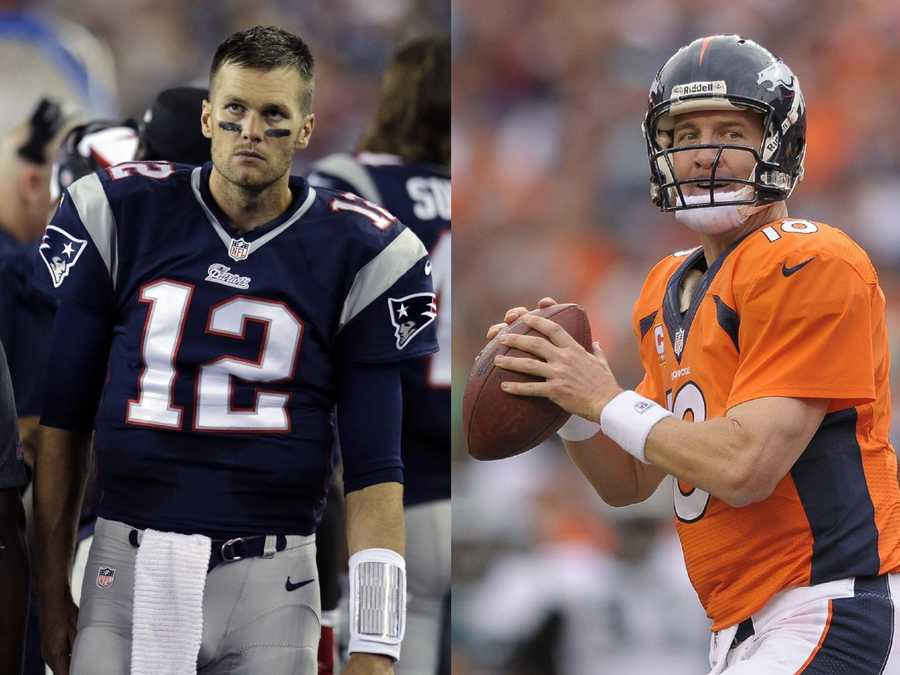 108 different NFL players have caught a regular-season touchdown from either Tom Brady or Peyton Manning.