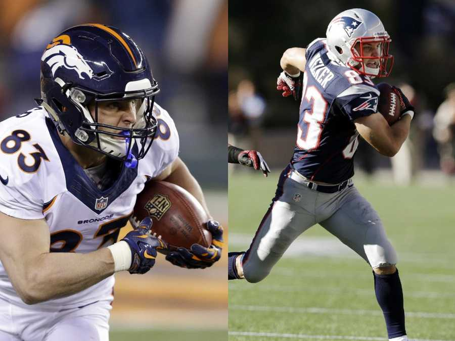Wes Welker is the only player that has a touchdown catch from both quarterbacks.