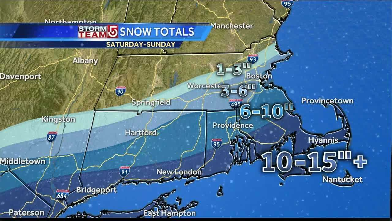 How Much Snow Fell In Your Area - Snowfall totals massachusetts