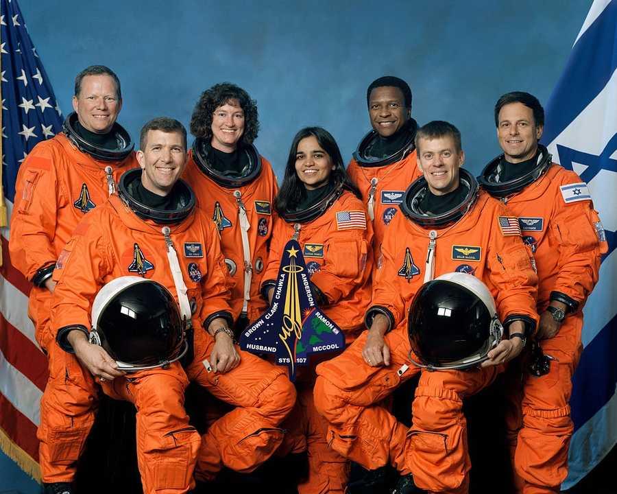 The crew of STS-107 includedRick D. Husband, William C. McCool, David M. Brown, Kalpana Chawla, Michael P. Anderson, Laurel B. Clark and Ilan Ramon. Ramon was the first Israeli in space.