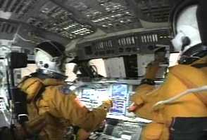 Still frame from STS-107 Cockpit Video 3.