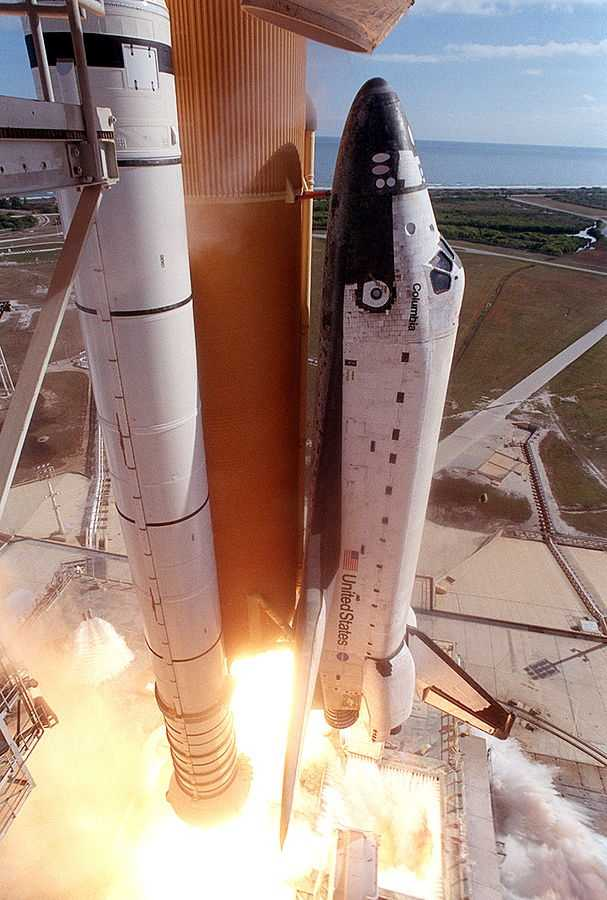 Space Shuttle Columbia launched from the Kennedy Space Center in Florida on Jan. 16, 2003. The mission spent 15 days, 22 hours, 20 minutes and 32 seconds in orbit.